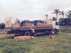 Se compraron 20 toneladas de material para construir la ermita de la Virgen.