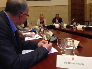 Con Neus Munté presidiendo la 3ª Reunión del Comité Asesor para la Ley de la Reforma Horaria, en el Palau de la Generalitat