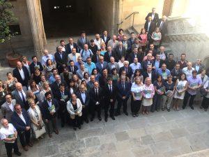 Los firmantes del Pacto para la Reforma Horaria