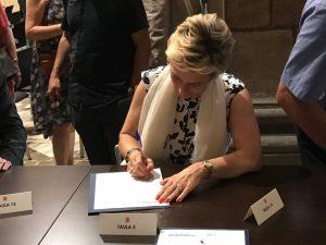 Firmando el Pacto para la Reforma Horaria